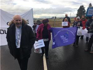 Image: Bishop Nolan Addresses Protesters at Dungavel