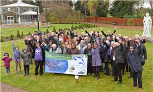 Image: Celebration at Carfin Grotto for 40th anniversary of J&P Scotland