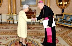 Image: New Vatican Nuncio to Great Britain meets with the Queen