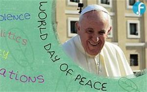 Image: pope Francis Message for the 52nd World Day of Peace
