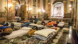Image: Vatican provides cold weather shelter for homeless and their pets