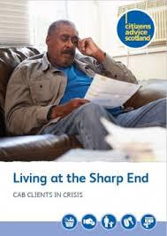 Image: Citizens Advice Scotland: 'Living at the Sharp End'