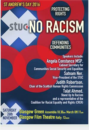 Image: St Andrew's Day Anti Racism March and Rally
