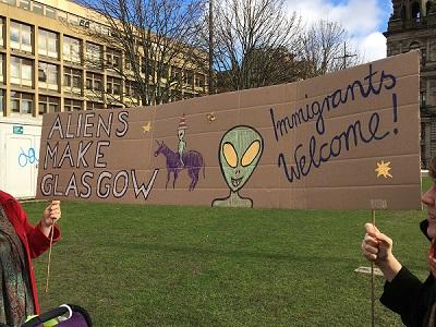 Aliens Make Glasgow Banner